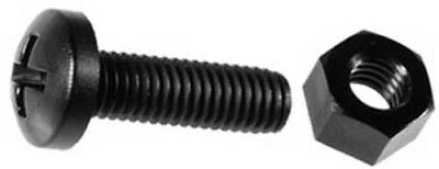 50 Nylon Phillips Pan Head License Plate Screws and Nuts M6-1.0 x 20mm