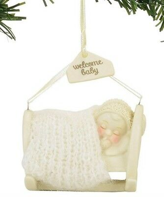 Dept 56 Snowbabies Welcome, Baby Ornament BRAND NEW 2017 Free Shipping