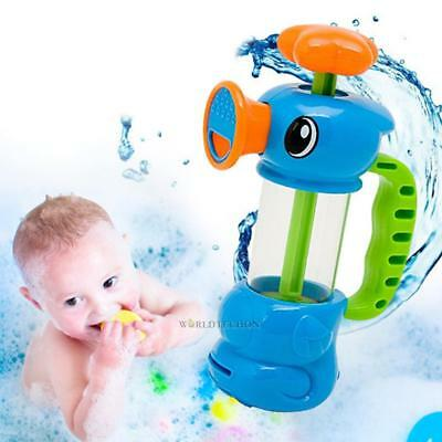 Baby Kids Bath Water Toy Pumping Design Faucet Spray Colourful Hippocampal Shape