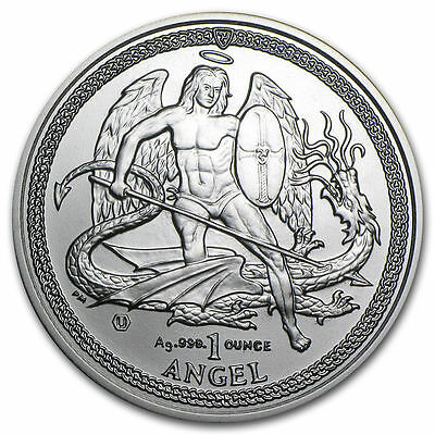 2014 Isle of Man 1 oz Silver Angel Uncirculated .999 Fine Silver Coin