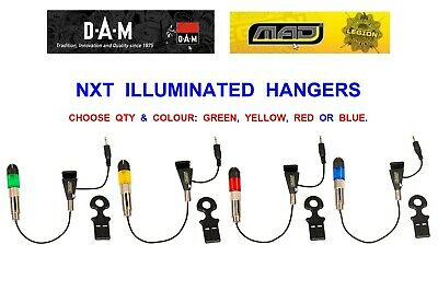 Dam Mad Nxt Illuminated Hanger For Carp Rod Pod Bite Indicator 3+1 4+1 Set Kit
