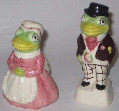 Anthropomorphic MR & MRS FROG Vintage ARTONE ENGLAND Pottery FIGURINES