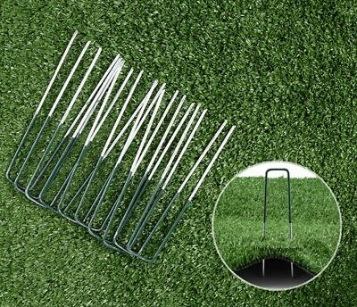 Artificial Grass Fixing Pins Pegs Staples Green Metal Turf Galvanised Sharp Ends