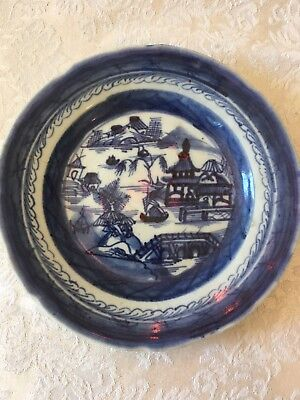 6 Antique Canton Chinese Bowls And 1 Small Plate