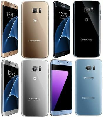 FOR AT&T NEW Samsung Galaxy S7 Edge 32GB G935A BLACK GOLD SILVER BLUE Smartphone