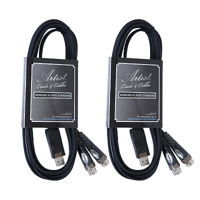 Artist USB to Dual MIDI cable - 10 ft (3m) 2 Pack - New