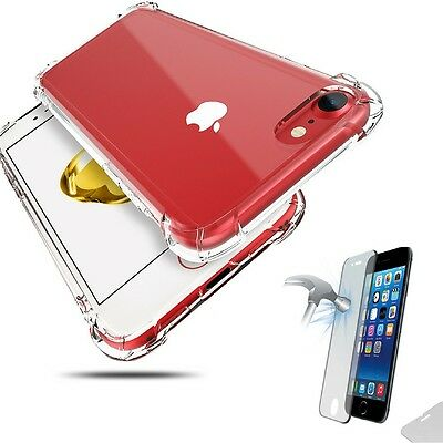 Hybrid 360° Shockproof Case Tempered Glass Cover For Apple iPhone 6 6s 7 8 Plus