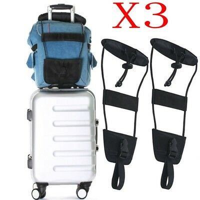 3X Travelon Bag Bungee Luggage Add A Bag Strap Travel Suitcase Attachment System