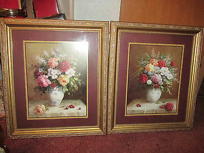 """Two Home Interiors Beautiful Floral  Pictures By Jack Terry 24""""X28"""""""