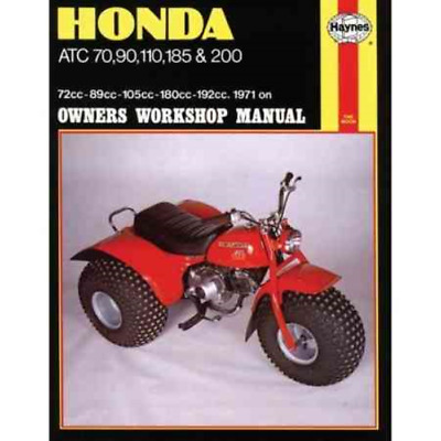 Haynes Workshop Manual Honda ATC 70 90 110 185 200 1971-1985 Service Repair