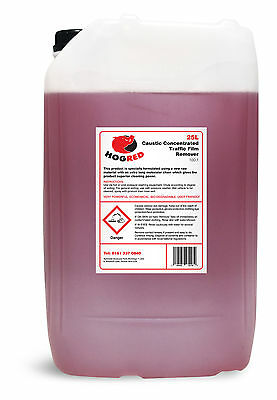 Hog Red Caustic Traffic Film Remover 25 Litre 100:1 De-Greaser Cleaner-Free Post