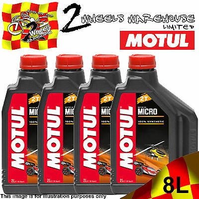 2L 4L 6L 8L Motul Micro 2T 100% Fully Synthetic Remote Radio Controlled Rc Oil