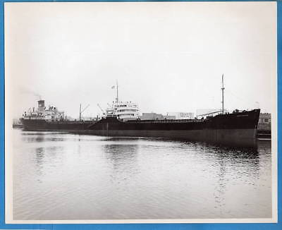1940-50s Tanker SS Aquitanius 8x10 Original Photo