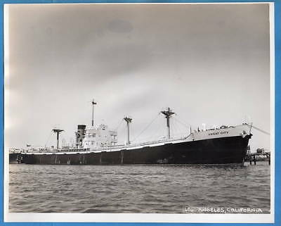 1940-50s Freighter SS Great City 8x10 Original Photo