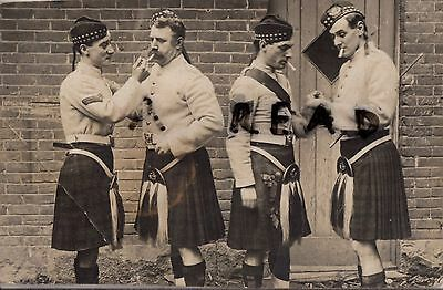 Soldier group 5th Canadian Highlanders of Canada ?? in Fatigue dress