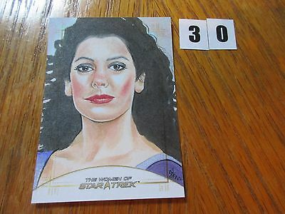 2017 Women of Star Trek 50th Anniversary Shane McCormack Deanna Troi Sketch - 30