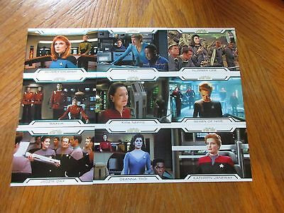 2017 Women of Star Trek 50th Anniversary Complete 9 Card Women In Command Set
