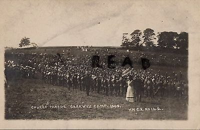 Soldier group Church Parade Brigade Camp ? Caerwys Camp 1909