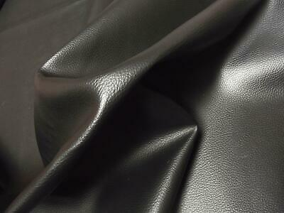 Faux LEATHER Leatherette PVC Vinyl Upholstery Fabric Material - BLACK