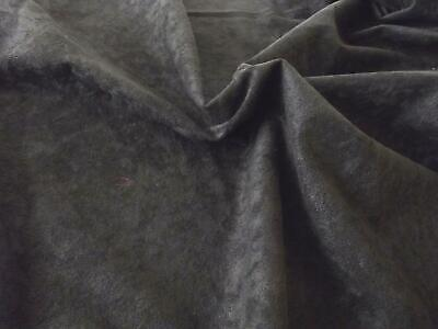 Faux Suede Suedette 100% Polyester Fabric Materia 170g - BLACK