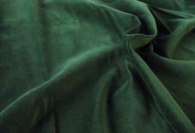 Luxury 100% Cotton Velvet Velour Fabric Material - BOTTLE