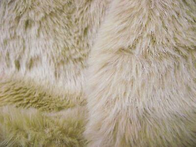 Super Luxury Faux Fur Fabric Material - SOLID BEIGE