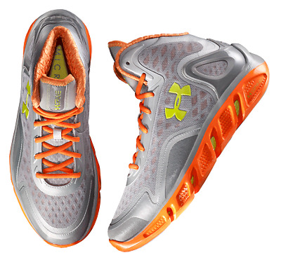 Mens Under Armour Spine Bionic Basketball Boots Shoes Trainers Size UK 8.5 Grey
