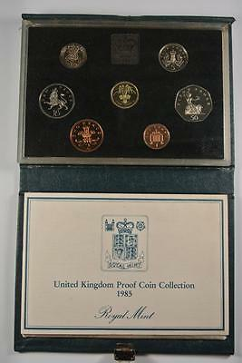 United Kingdom 1985 Proof Coin Collection Royal Mint W/COA - BX1