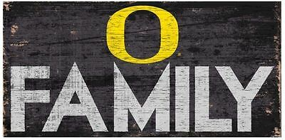 "Oregon Ducks FAMILY Football Wood Sign - NEW 12"" x 6""  Decoration Gift"