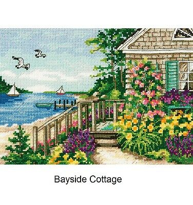 """/""""Gold Petite Scenic Lighthouse Counted Cross Stitch Kit-5/""""/""""X7/""""/"""" 18 Count/"""""""