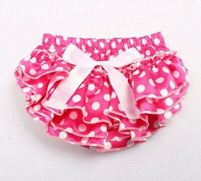 Baby Girls Frilly Tutu Knickers Bloomers Boutique Cake Smash Pink polka dot Spot