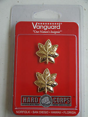 Usmc Us Marine Corps O-4 Maj Major's Gold Jacket Rank Insignia Pair