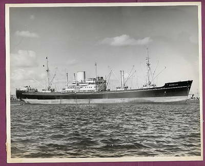 1940-50s Freighter SS Morelia Port View 8x10 Original Photo #2