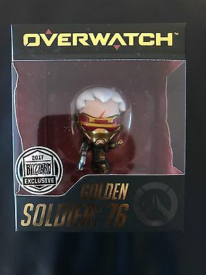 SDCC 2017 Exclusive Blizzard Overwatch Golden Soldier: 76 In Hand