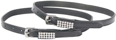 Harry's Horse Black Leather Crystal Spur Straps Harry's Horse