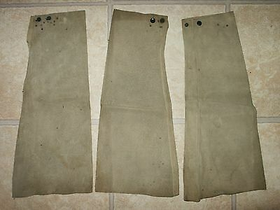 3 Vintage Leather Welder's Sleeves