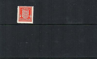 JERSEY 1941 1d Arms CHALKY PAPER Wartime STAMP SG2d Unmounted  Mint REF:X677