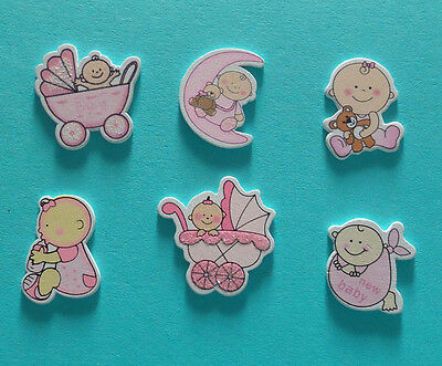 10 wooden baby craft embellishments  Baby Showers Invites Cards