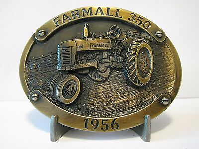 IH International Harvester Farmall 350 Tractor Bronze Belt Buckle Limited Ed 264