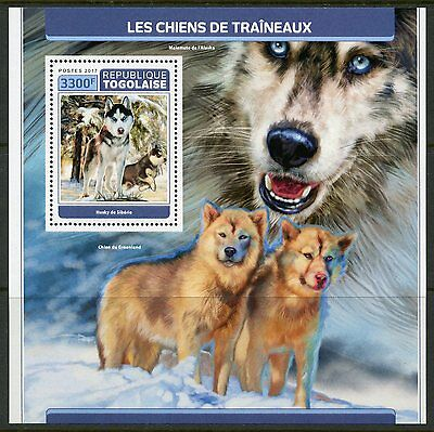 Togo 2017 Sled Dogs   Souvenir Sheet Mint Never Hinged