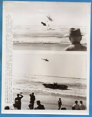 1950s USCG Helicopter Rescues George Monaco 5 Died Fishing Boat San Francisco