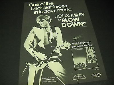 JOHN MILES ..one of brightest forces in today's music 1977 PROMO POSTER AD mint
