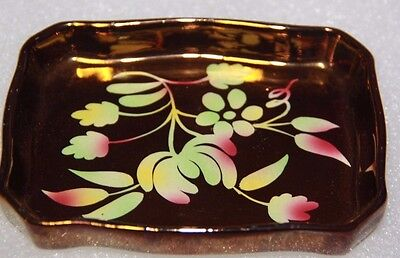 WADE DISH COPPER GOLD vintage Wade piece 50's circa Wade Wade collectible plate