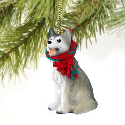 Husky Grey Dog Tiny One Miniature Christmas Holiday ORNAMENT