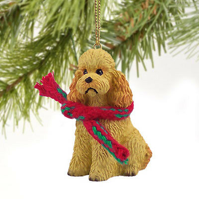 Poodle Sport Cut Apricot Dog Tiny One Miniature Christmas Holiday ORNAMENT