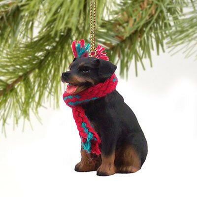 Rottweiler Dog Tiny One Miniature Christmas Holiday ORNAMENT