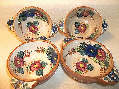 Set of 4 Vintage Collectible Oriental Ceramic Bowls Hand Painted - Made in Japan