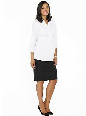 Maternity Classic Work Outfit - Shirt & Skirt Set