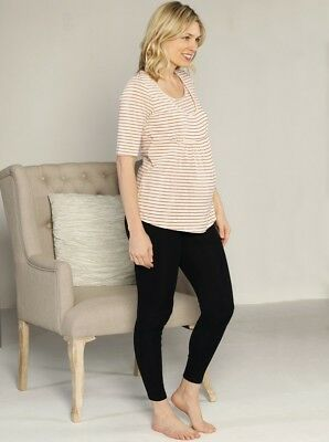 Red Stripe Nursing Top & Legging Lounge Set