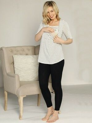Stripe Nursing Top and Legging Lounge Set